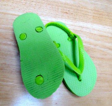 1320 - Sandália verde -  25/26 = 13 cm - 25 - Não informada
