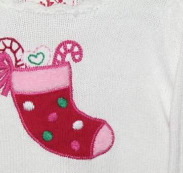 504 - Top em tricô - Cru com motivo de Natal - OshKosh - 18 meses - 18 meses - OshKosh
