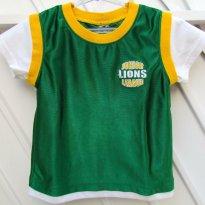 1633 - Camiseta verde/branco/amarelo - 3 anos - Junior Lions - 3 anos - Importada