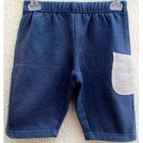 1730 - Calça marinho/cinza - 6/9 meses - 6 a 9 meses - Importada