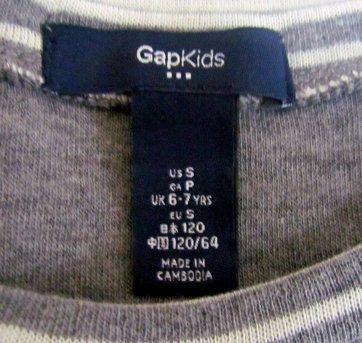 2058 - Top listrado de  mangas longas - 6/7 anos - 6 anos - Baby Gap