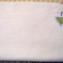 2465 - Cobertor branco - sapinho na lagoa - Sem faixa etaria - Wonder Kids - USA