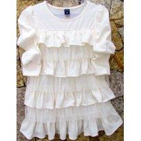 D2562 - Vestido na cor cru -  2 anos - 2 anos - Baby Gap