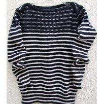 2728 - Suéter Gap em tricô listrado marinho e branco - M/4-5 anos - 4 anos - Baby Gap