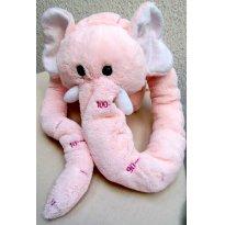 2746 - Elefantinha rosa com tromba métrica. - Sem faixa etaria - Não informada