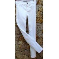 2788 - Calça Abercrombie Slim branco - M/10 anos - 10 anos - Abercrombie