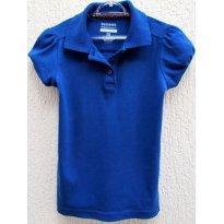 2818 - Camisa feminina gola polo azulão George - 6 anos - 6 anos - George