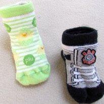 2856 - Kit 2 pares de meias - 12/24 meses - 12 a 18 meses - Não informada