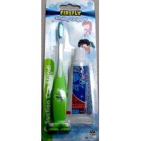 3042 - Kit Escova de dentes e creme dental - Firefly Smiley Gripper - Sem faixa etaria - Firefly - USA