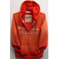 3628 - Blusão laranja c/capuz Hollister - M/14-16 anos - 14 anos - Hollister