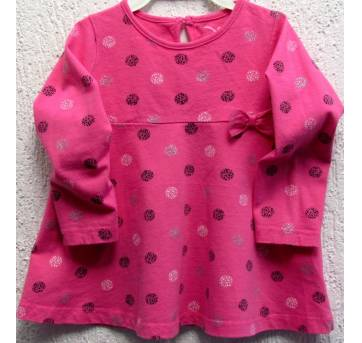 3658 - Vestido pink c/bolotas - Jumping Beans - M/24 meses - 2 anos - Jumping Beans