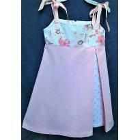 3703 - Vestido rosa c/estampas Evelyn Bonnie (USA) - M/ 4 anos - 4 anos - Importada