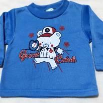 3768 - Blusão Azul Teddy Boom - H/0-3 meses - Great Catch - 0 a 3 meses - Teddy Boom