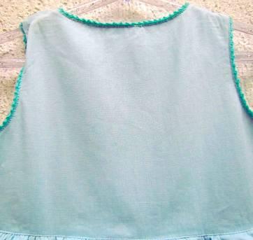 3822 - D-Vestido azul Jacadi - M/23 meses - 2 anos - Jacadi Paris