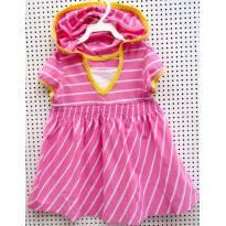3866 - Batinha listrada rosa e branco Carter`s - M/5 anos - 5 anos - Carter`s