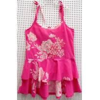 D 3934 - Batinha estampada rosa e branco Palomino - M/8 anos - 8 anos - Palomino