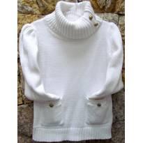 4047 - Suéter branco em tricô -  EPK - M/4 anos - 4 anos - EPK