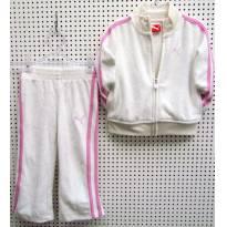 4057 - Conjunto branco e lilás Puma - M/18 meses - 18 meses - Puma