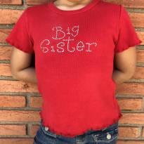 4217 - Top vermelho L.A.T  Sports Wear - M/5-6 anos - Big Sister - 5 anos - Importado