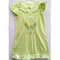 4347 - Camisola verde limão - M/7-8 anos - 7 anos - Não informada