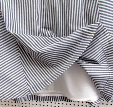 4408-Vestido listrado branco e cinza Gap 6/7 anos - 6 anos - Baby Gap
