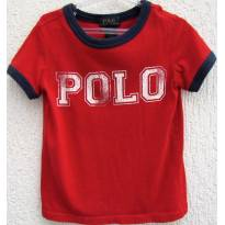 4450-Camiseta vermelho e marinho Ralph Lauren 3 anos - 3 anos - Ralph Lauren