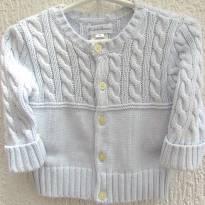4428-Casaquinho em tricô azul Ralph Lauren 3 meses - 3 meses - Ralph Lauren