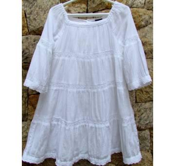 4456-Vestido branco Gap 2/3 anos - 24 a 36 meses - Baby Gap