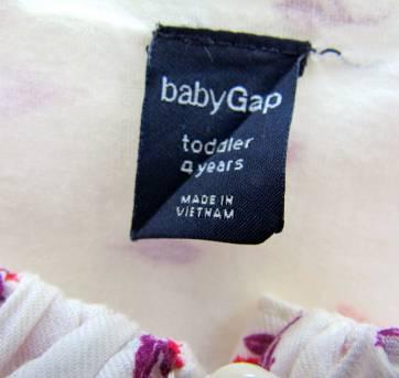 4472-D-Batinha estampada cru e vermelho Gap 4 anos - 4 anos - Baby Gap