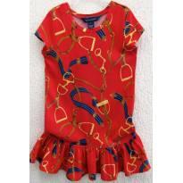 4477-Vestido estampado vermelho Ralph Lauren 6 anos - 6 anos - Ralph Lauren