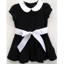 4499-Vestido preto e branco Ralph Lauren 9 meses - 9 anos - Ralph Lauren