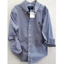 4527-Camisa listrada branco e marinho Ralph Lauren - Menino 6 anos