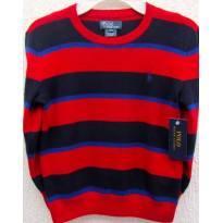 4559-Blusão em tricô  listrado Ralph Lauren - Menino 6 anos - 6 anos - Ralph Lauren