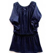 4554-Vestido marinho e branco Gap - Menina 6/7 anos - 6 anos - Baby Gap