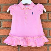 4601 - Vestido rosa Ralph Lauren - Menina 3 meses - 3 meses - Ralph Lauren