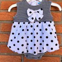 4590 - Vestido body bon bébé – Menina 0 a 3 meses - 0 a 3 meses - bon bébé