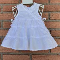 4591 - Vestido branco com calcinha  George – Menina 0 a 3 meses - 0 a 3 meses - George