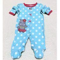 4585 - Macacão com pezinho, Koala Baby – Menina RN – Hipopótamo - Recém Nascido - Koala Baby