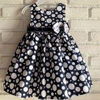 4645 - Vestido marinho e branco - Max Studio Baby - menina 3 a 6 meses - 3 a 6 meses - Importado