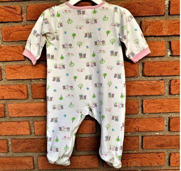 4638 - Macacão com pezinho Gerber - menina 3 a 6 meses – Ursinhas - 3 a 6 meses - Gerber