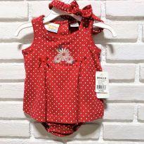 4643 - Vestido body Sunshine Baby – menina 3 a 6 meses - 3 a 6 meses - Sunshine - USA