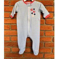 4637 - Macacão Gerber com pezinho - menina 3 a 6 meses – Borboletas - 3 a 6 meses - Gerber