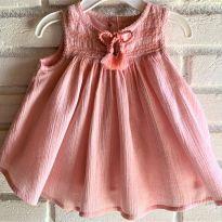 4646 - Vestido rosa Piper & Posie  menina 3 a 6 meses - 3 a 6 meses - Importado
