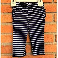 4651 - Calça listrada marinho e branco - Old Navy - menina 3 a 6 meses - 3 a 6 meses - Old Navy (USA)