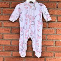 4667 - Macacão Little Me com pezinho - menina 6 meses – Flores - 6 meses - Little Me