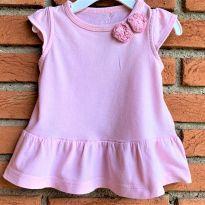 4673 - Vestido ou batinha Carter`s - menina 6 meses - Rosinhas - 6 meses - Carter`s