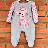 4665 - Macacão com pezinho Koala Baby - menina 6 meses – Gatinha princesa - 6 meses - Koala Baby