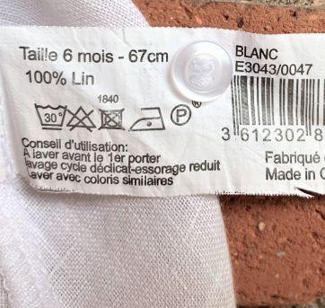 4671 - Vestido branco bout`chou - menina 6 meses - 6 meses - Bout`Chou