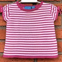 4675 - Blusinha em tricô listrada - Place - Menina 6 a 9 meses - 6 a 9 meses - Place