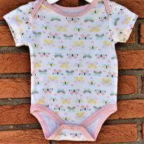 4676 - Body Baby Gear - menina 6 a 9 meses - borboletas - 6 a 9 meses - Importada